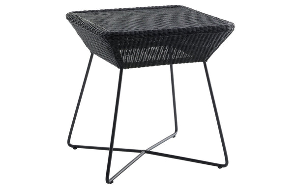 Breeze Side Table by Cane-Line -Black Fiber/Black Powder Coated Hotgalvanized Steel.