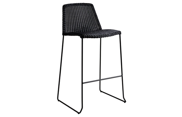 Breeze Stackable Bar Chair by Cane-Line - Black Fiber Weave.