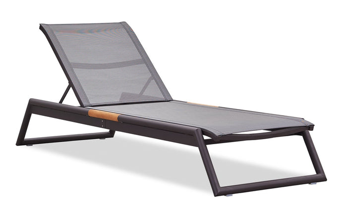 Breeze Stacking Sunlounger by Harbour - Asteroid Aluminum + Batyline Silver.