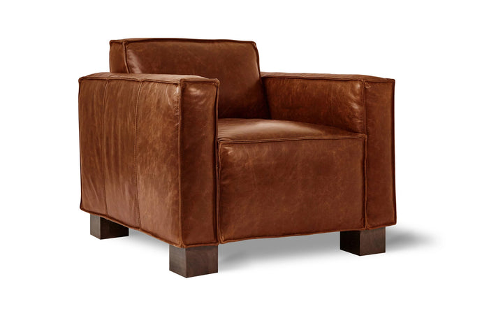Cabot Chair by Gus Modern - Saddle Brown Leather.