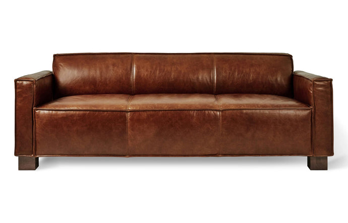 Cabot Sofa by Gus Modern - Saddle Brown Leather.