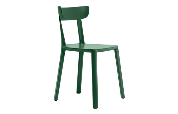 Cadrea Chair by Toou - No Upholstery, Dark Green Base.