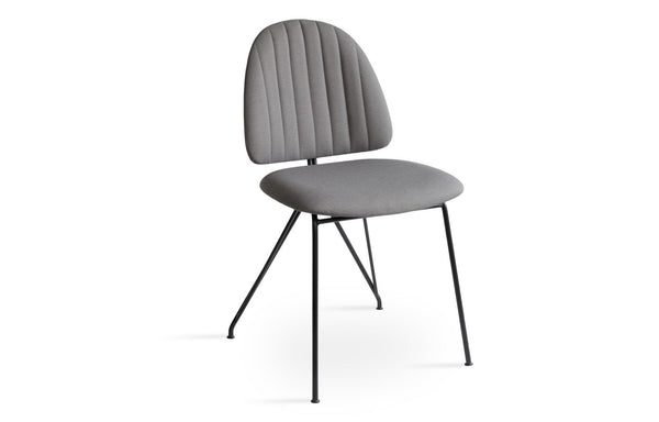 Langham Soft Seat Dining Chair by SohoConcept - Camira Era Grey Fabric with Matt Black Frame