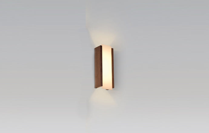 Capio LED Sconce by Cerno - Small, Walnut.
