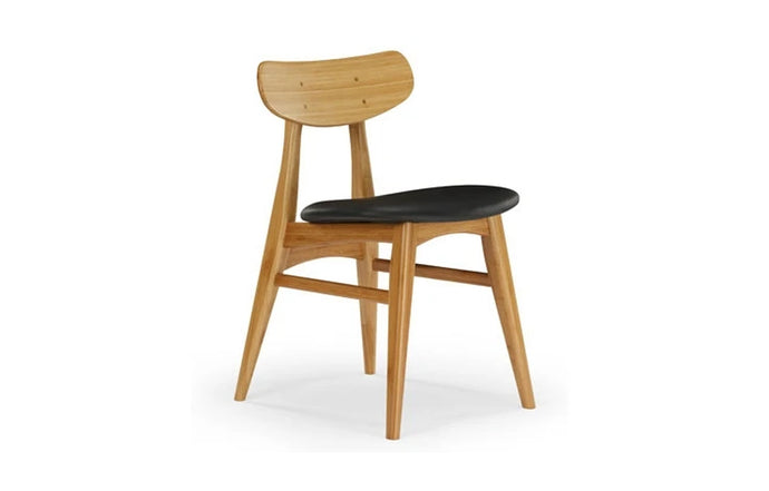 Cassia Upholstered Dining Chair by Greenington - Caramelized Wood.