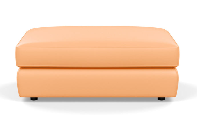 Cello Leather Ottoman by EQ3 - Rectangle, Coachella Tan Leather.