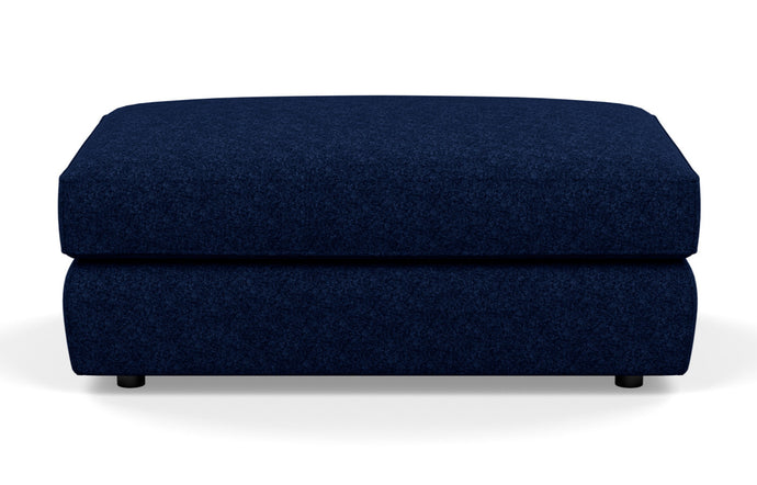 Cello Fabric Ottoman by EQ3 - Rectangle, Lana Dark Blue Fabric.