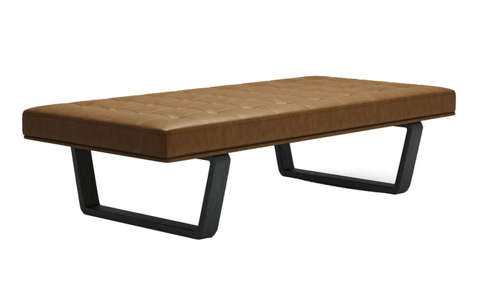 Charlton Bench by Modloft - Aged Caramel Leather.