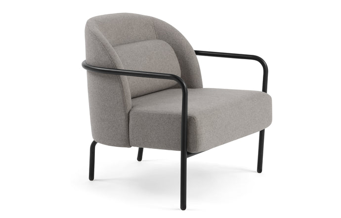 Circa Lounge Chair by m.a.d. - Grey Fabric