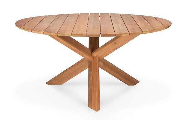 Circle Teak Outdoor Dining Table by Ethnicraft - 54