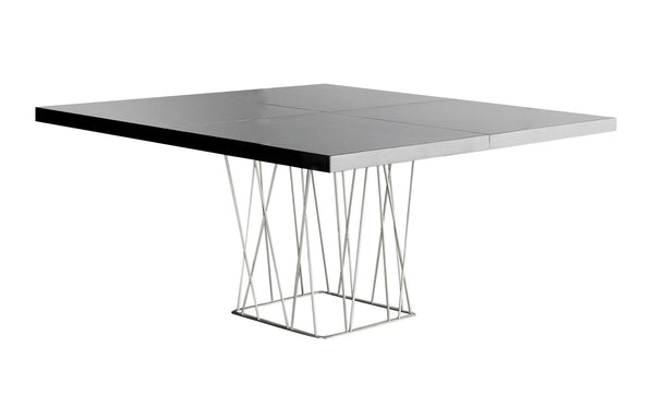 Clarges Dining Table by Modloft -  Glossy Black