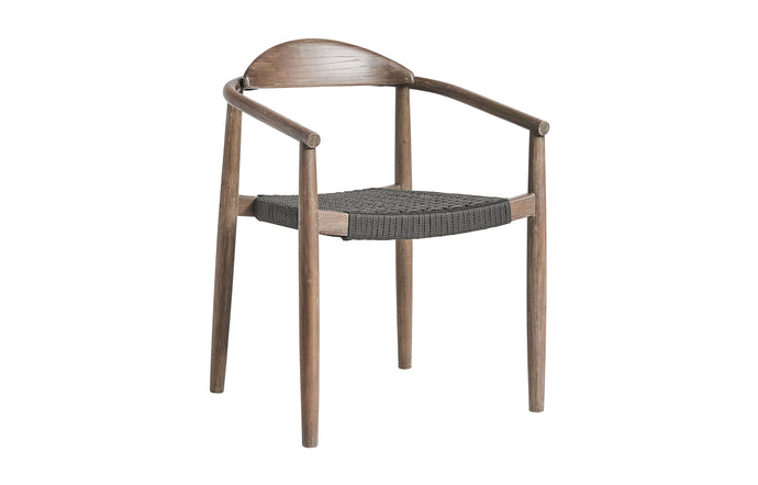 Classica Stacking Outdoor Dining Chair by Modloft - Light Gray Cord.