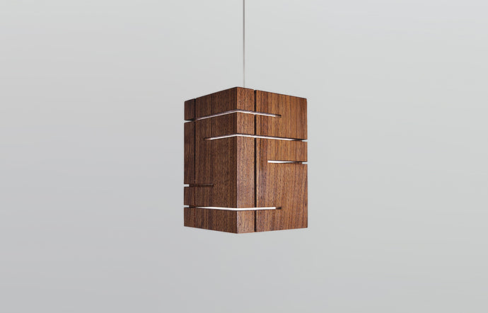 Claudo LED Accent Pendant by Cerno - Walnut Wood.