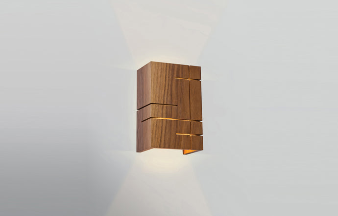 Claudo LED Sconce by Cerno - Walnut.