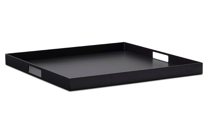 Club Square Tray by Cane-Line - Black Aluminum.