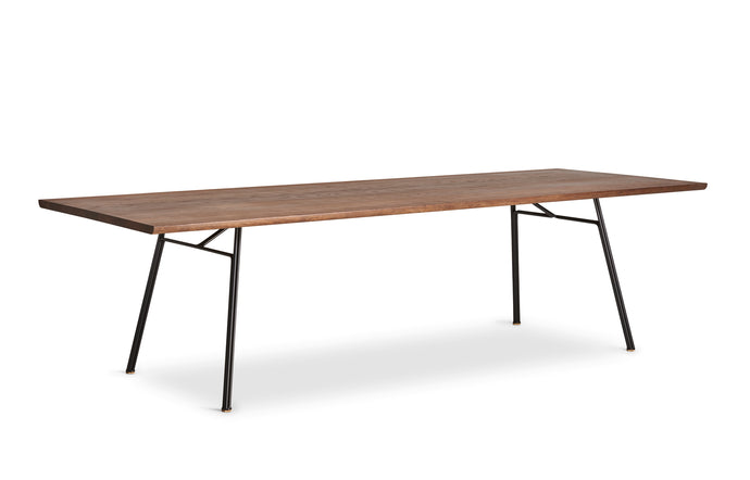 Corduroy Table by DK3 - Smoked Oak Wood.