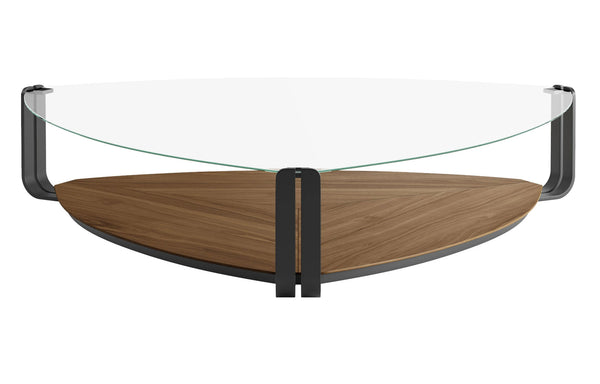 Crayford Coffee Table by Modloft Black - Walnut