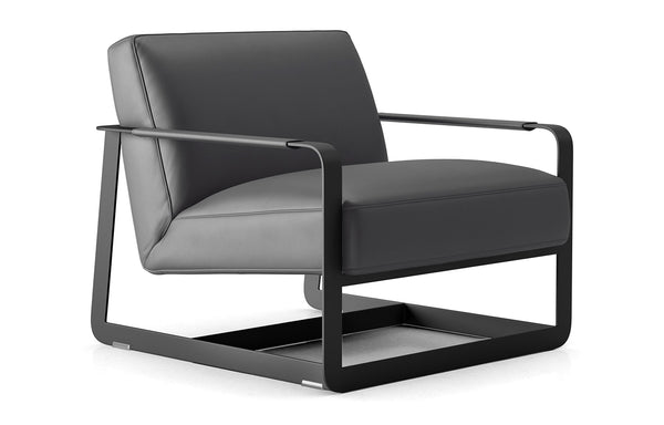 Crosby Lounge Chair by Modloft Black.