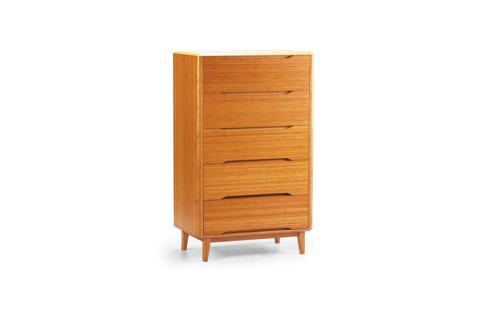 Currant Five Drawer Chest by Greenington - Caramelized.