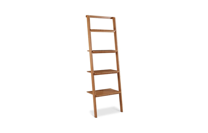 Currant Leaning Bookshelf by Greenington - Caramelized Wood.
