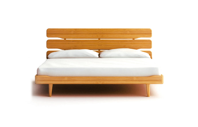 Currant Platform Bed by Greenington - Caramelized Wood.