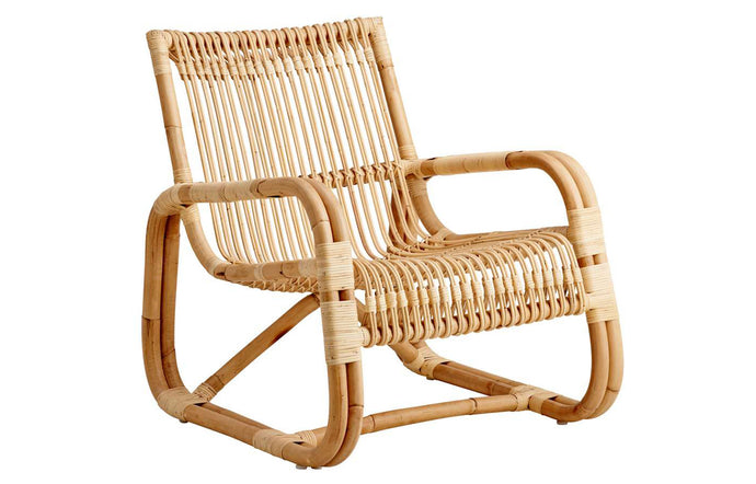Curve Indoor Lounge Chair by Cane-Line - Natural Rattan.