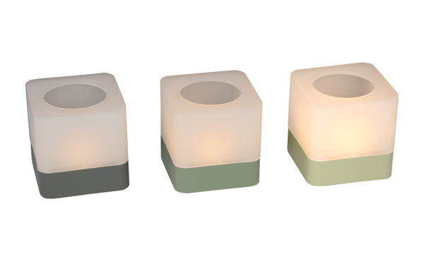 Cuub Tea-Light Holders by Fermob - Willow Green / Cactus / Rosemary
