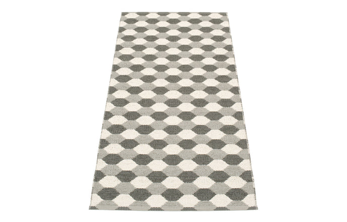 Dana Warm Grey & Charcoal & Vanilla Runner Rug by Pappelina - 28