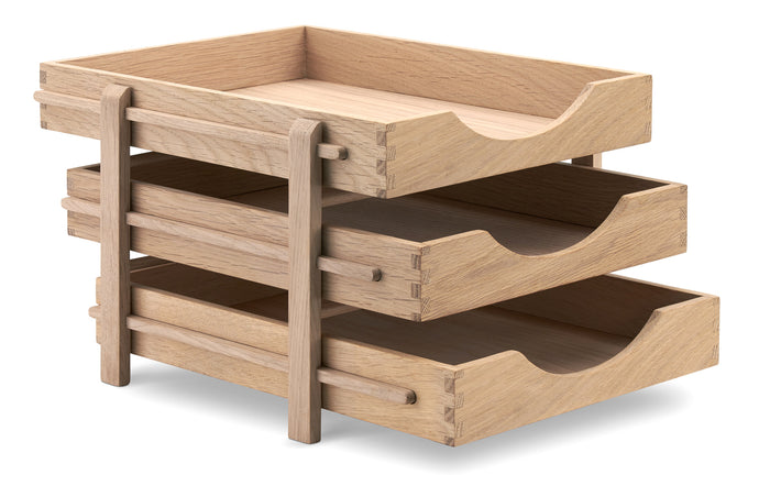 Dania Letter Tray by Skagerak - Natural Oak Wood.
