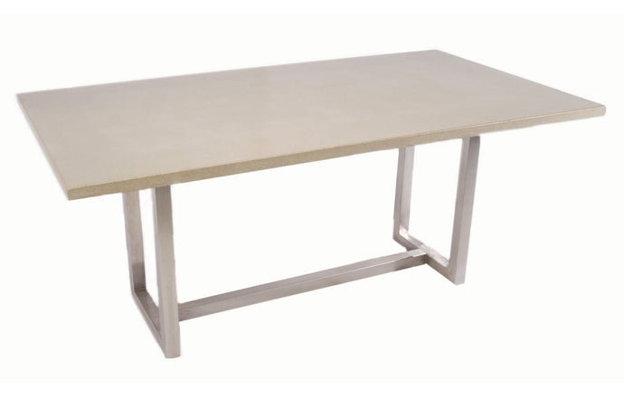 James De Wulf Vue Dining Tables by De Wulf - Natural Tone Concrete.