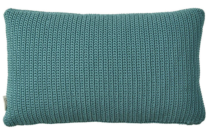 Divine Rectangle Scatter Cushion by Cane-Line - Turquoise Dacron Fabric.