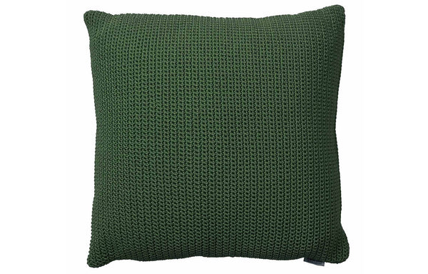 Divine Square Scatter Cushion by Cane-Line - Dark Green Dacron Fabric.