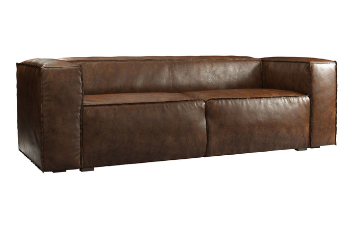 Dominick Sleeper Sofa by Modloft Black - Aged Whisky Leather