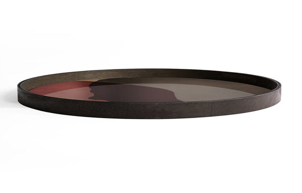 Dots Glass Round Tray by Ethnicraft - Pinot Combined