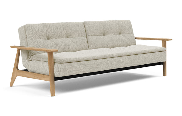 Dublexo Frej Sofa Bed Oak by Innovation - 527 Mixed Dance Natural (stocked).