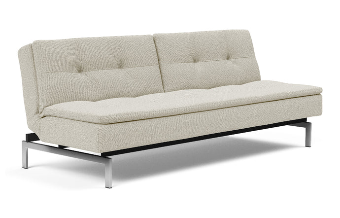 Dublexo Stainless Steel Sofa Bed by Innovation - 527 Mixed Dance Natural (stocked).
