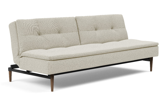 Dublexo Styletto Dark Wood Sofa Bed by Innovation - 527 Mixed Dance Natural (stocked).