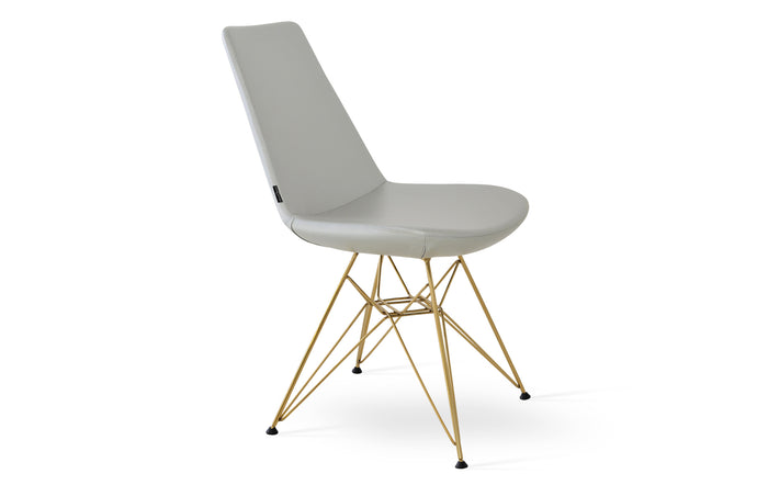 Eiffel Tower Chair by SohoConcept - Gold Brass Finish, Silver PPM.