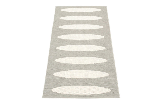 Ella Warm Grey & Vanilla Runner Rug by Pappelina.
