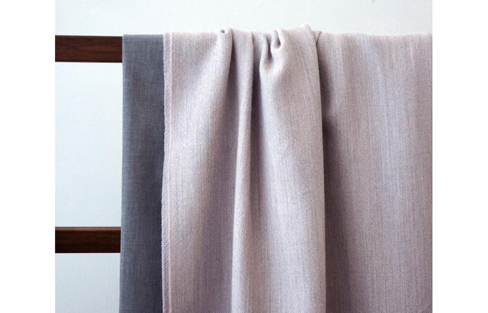 Elliot Blush Blanket by Area.
