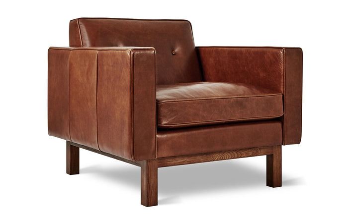 Embassy Chair by Gus Modern - Saddle Brown Leather.