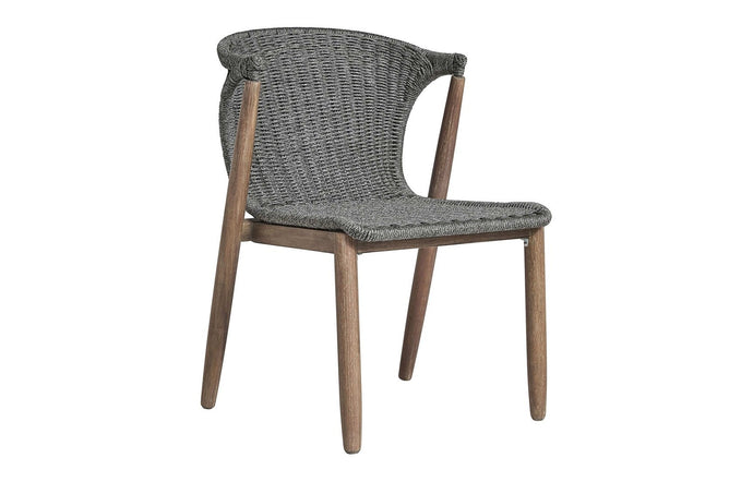 Embras Stacking Outdoor Dining Chair by Modloft - Shades of Gray Cord.