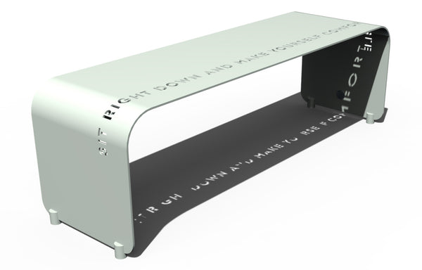 Epigram Aluminum Bench by Orange22 Modern.