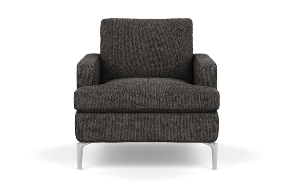 Eve Fabric Chair by EQ3 - Aluminum Leg, Coda Ash Fabric.