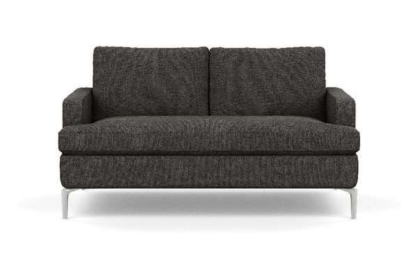 Eve Fabric Loveseat by EQ3 - Aluminum Leg, Coda Ash Fabric.