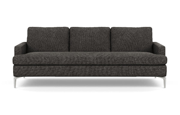 Eve Fabric Sofa by EQ3 - Aluminum Leg, Coda Ash Fabric.