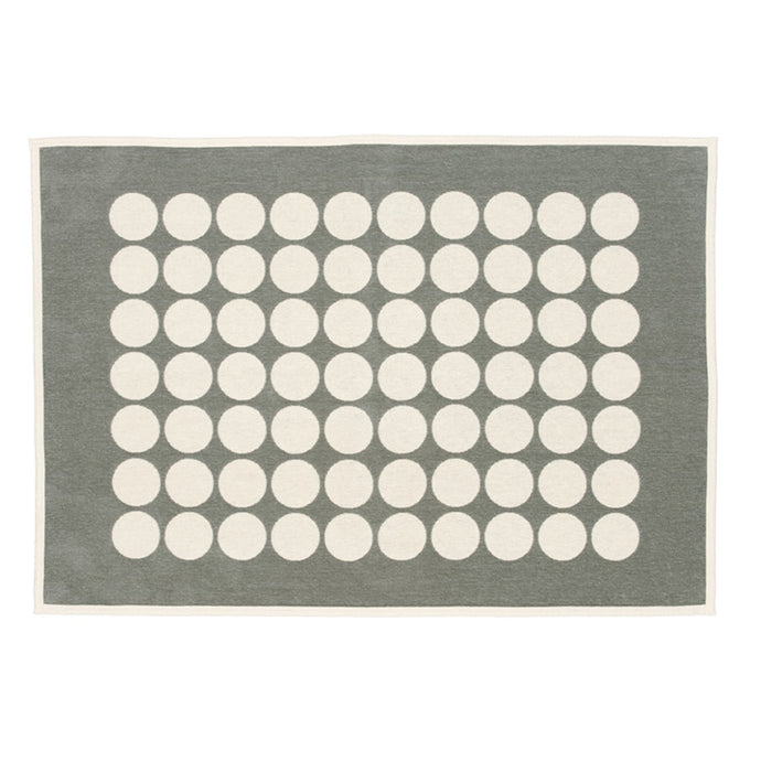 Fia Warm Grey Blanket by pappelina.