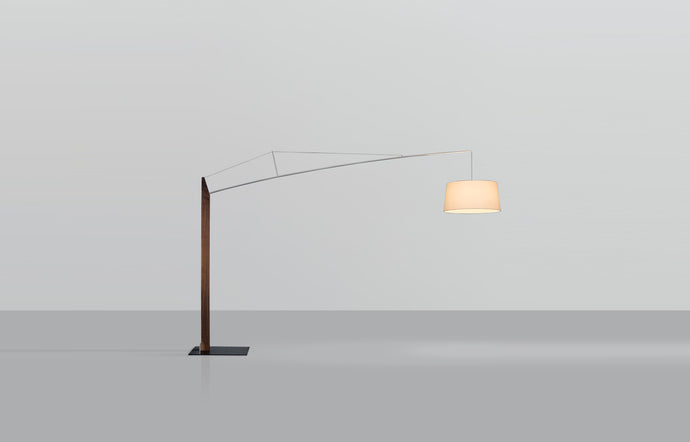 Fons Floor Lamp by Cerno - White Linen Shade.