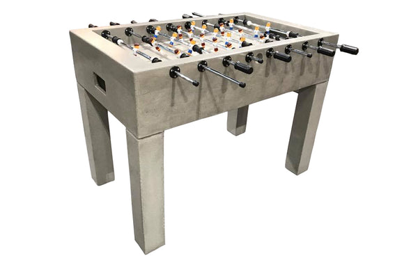 James De Wulf Foosball Table by De Wulf - Natural Tone Concrete.