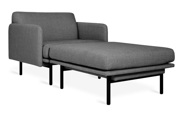 Foundry 2-PC Chaise by Gus Modern - Andorra Pewter Fabric.